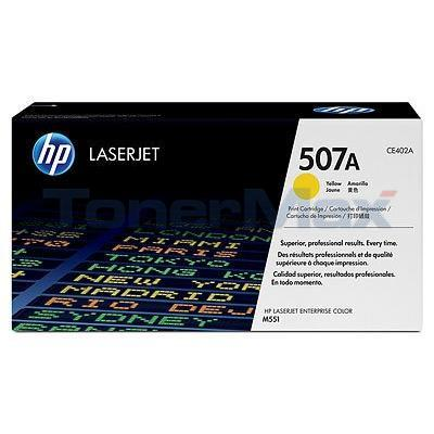 HP NO 507A LASERJET TONER CARTRIDGE YELLOW